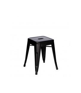 Tabourets X2 Bas (Hauteur Chaise) Patine Noir Dallas