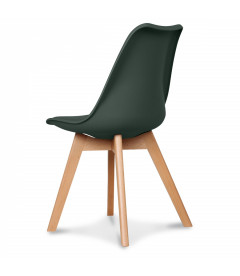Chaise Copenhague Vert Foret + Coussin