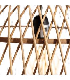 Suspension Naturel Bambou 50X50X33cm