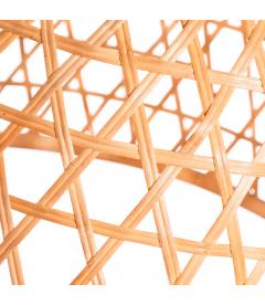 Set de 2 Suspensions Naturel Bambou 54x54x35.5 - 45.5x45.5x29cm