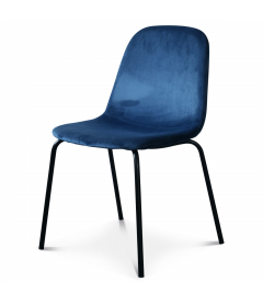 Chaise Felix Velours Bleu Cobalt