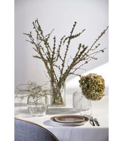 Vase - Avec Motif - Glass - Clear - D 15,0cm - H 15,0cm - Pcs.