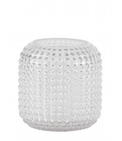 Vase - Avec Motif - Glass - Clear - D 15,0cm - H 15,0cm - Pcs.