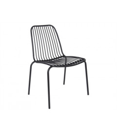 Chaise Lineate Noir - Outdoor Leitmotiv