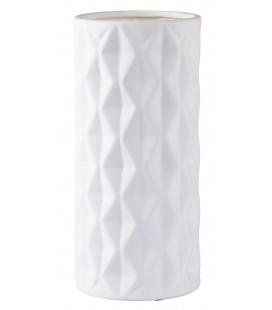 Vase - Ceramique - Blanc - Matt - D 13,0cm - H 28,0cm - Pcs.