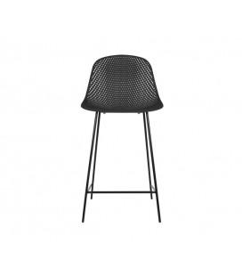 Chaise de Bar Diamond Mesh Noir