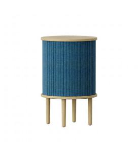 Table Chevet Audacious Bleu Pétrole Chêne Clair