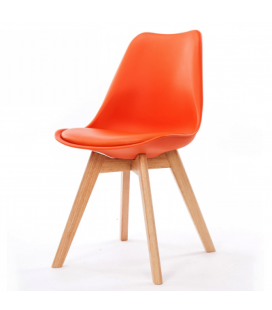 Chaise Copenhague Orange + Coussin