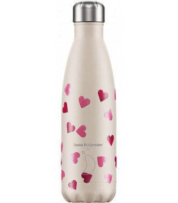 "Bouteille Isotherme 500ml Acier ""Emma Bridgewater Pink Hearts"" Chilly's"