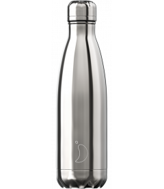 "Bouteille Isotherme 500ml Acier ""Chrome Silver"" Chilly's"