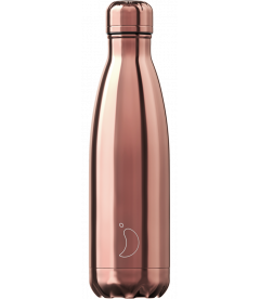 "Bouteille Isotherme 500ml Acier ""Chrome Rose Gold"" Chilly's"