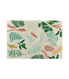 Tapis Botanic Plants Coton 140/200 cm Lavable en Machine