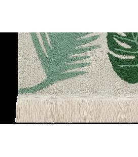 Tapis Lavable Tropical Vert Coton 140/200 cm