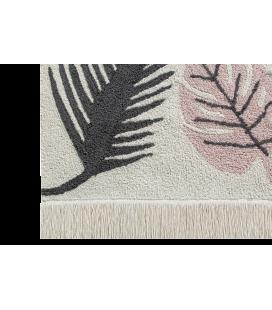 Tapis Lavable Tropical Rose Coton 140/200 cm