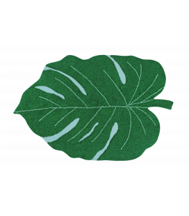 Tapis Lavable Monstera Leaf Coton 120/180 cm