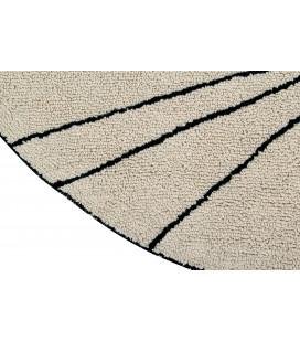 Tapis Lavable Trace Beige Ø160 cm