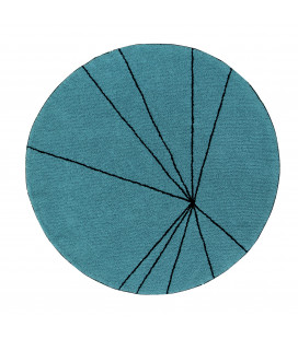 Tapis Lavable Trace Pétrole Ø160 cm