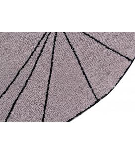 Tapis Lavable Trace Rose Ø160 cm