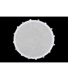 Tapis Rond Bubbly Gris Ø120 cm Lavable en Machine