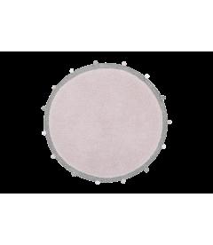 Tapis Rond Bubbly Rose Ø120 cm Lavable en Machine