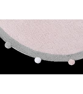 Tapis Lavable Rond Bubbly Rose Ø120 cm