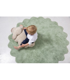 Tapis Rond Puffy Sheep Ø140 cm Lavable en Machine