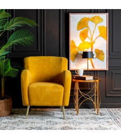Fauteuil Goldy Jaune Moutarde