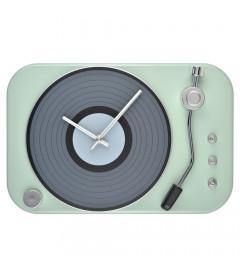 Horloge Tourne Disque Vert Gris